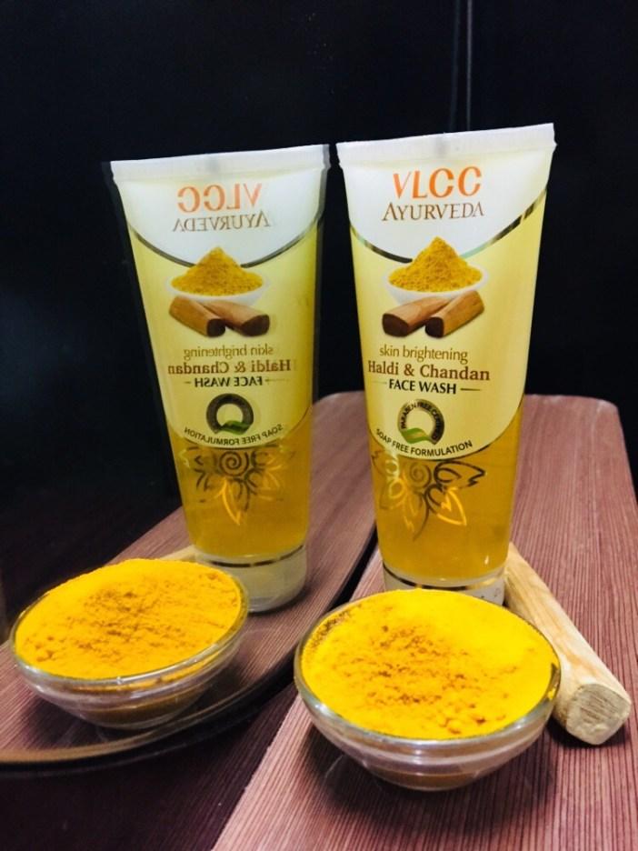 VLCC skin brghtening haldi & chandan face wash wedding season