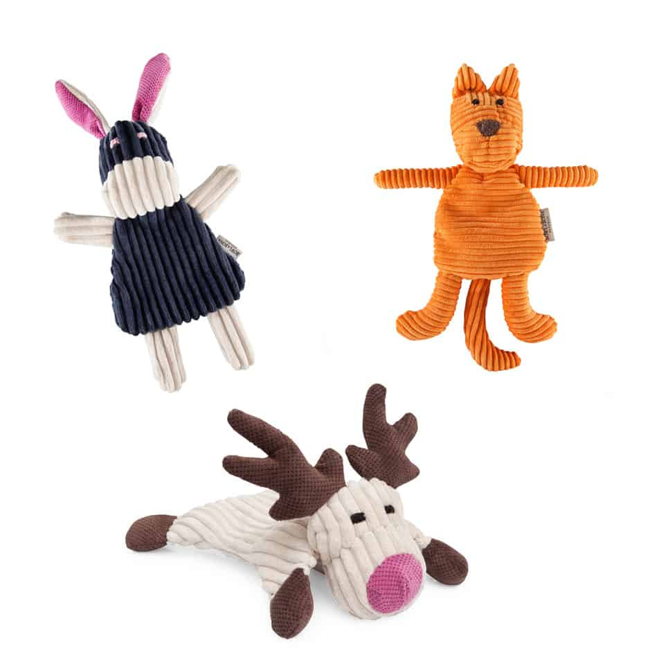 Three Dog Toy Pack Felix Rex And Toffi The Stylish