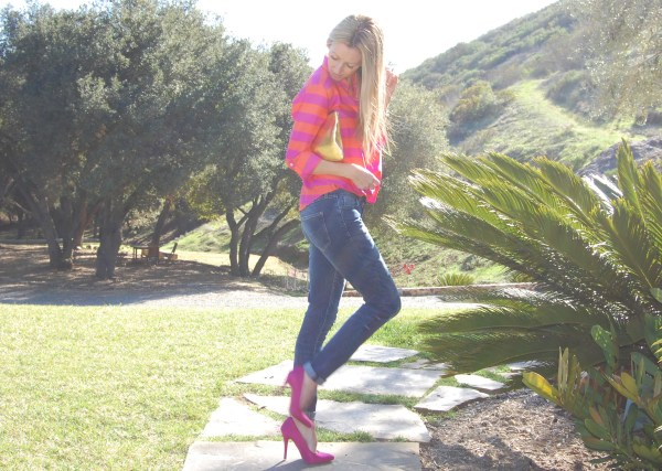 justfab pink lyon heels