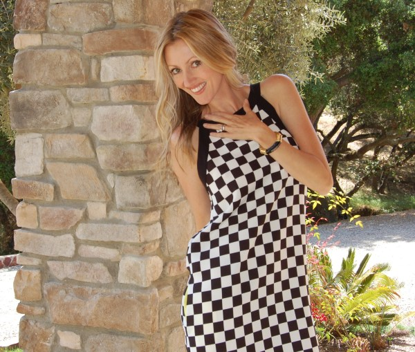 zara black & white checkered dress
