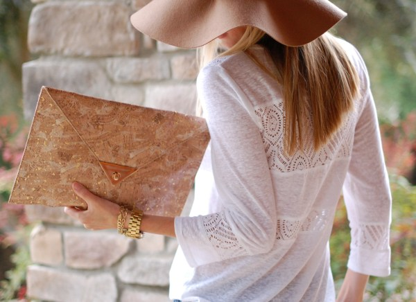 JustFab Cork Clutch