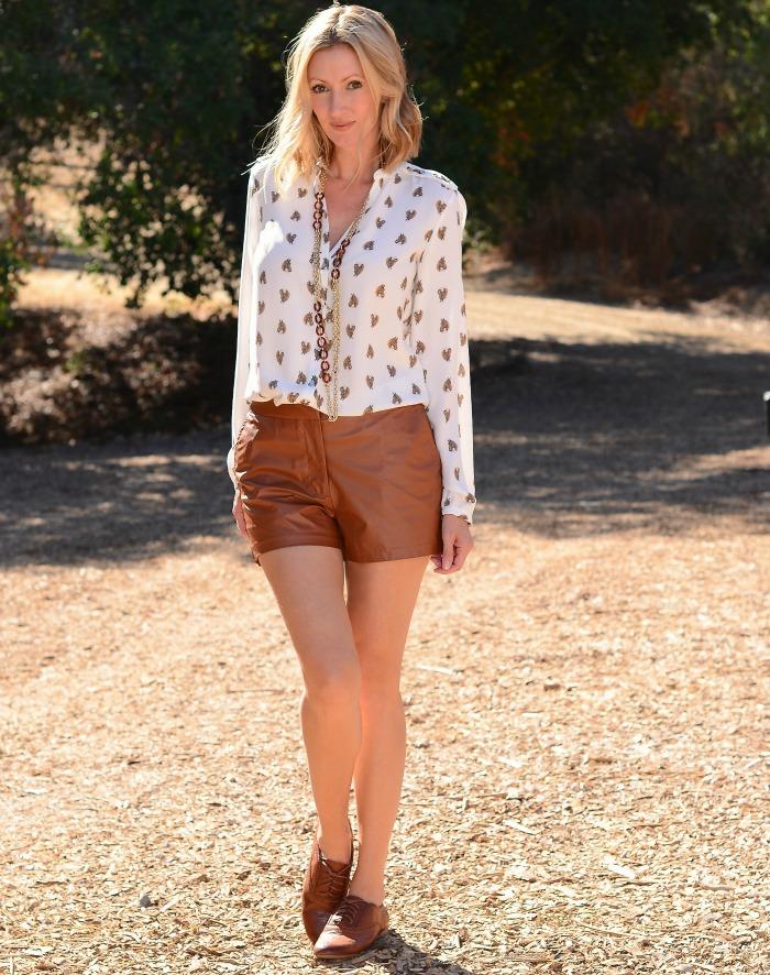 Cognac Shorts