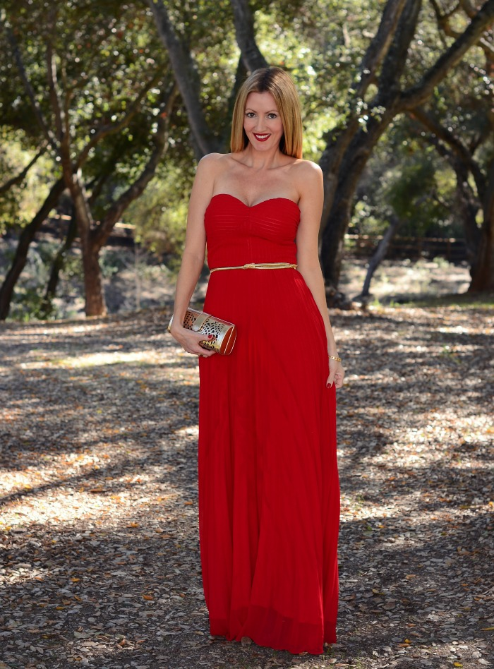 Lulu's Red Maxi Dress