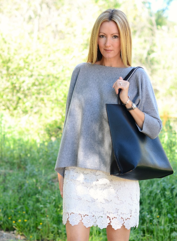 Garnet Hill Cashmere Boxy Sweater