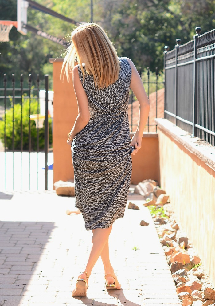 CAbi Twist Back Maxi Dress