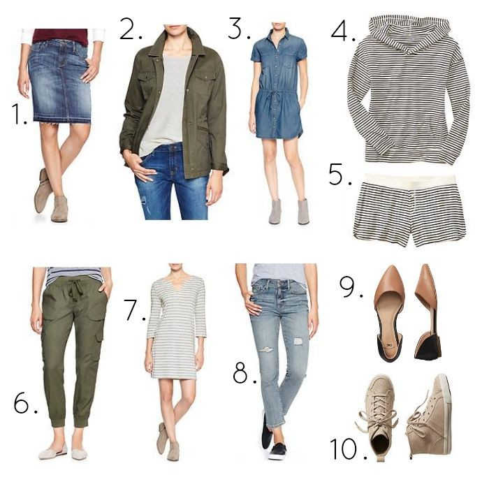 Gap Factory Summer to Fall Essentials
