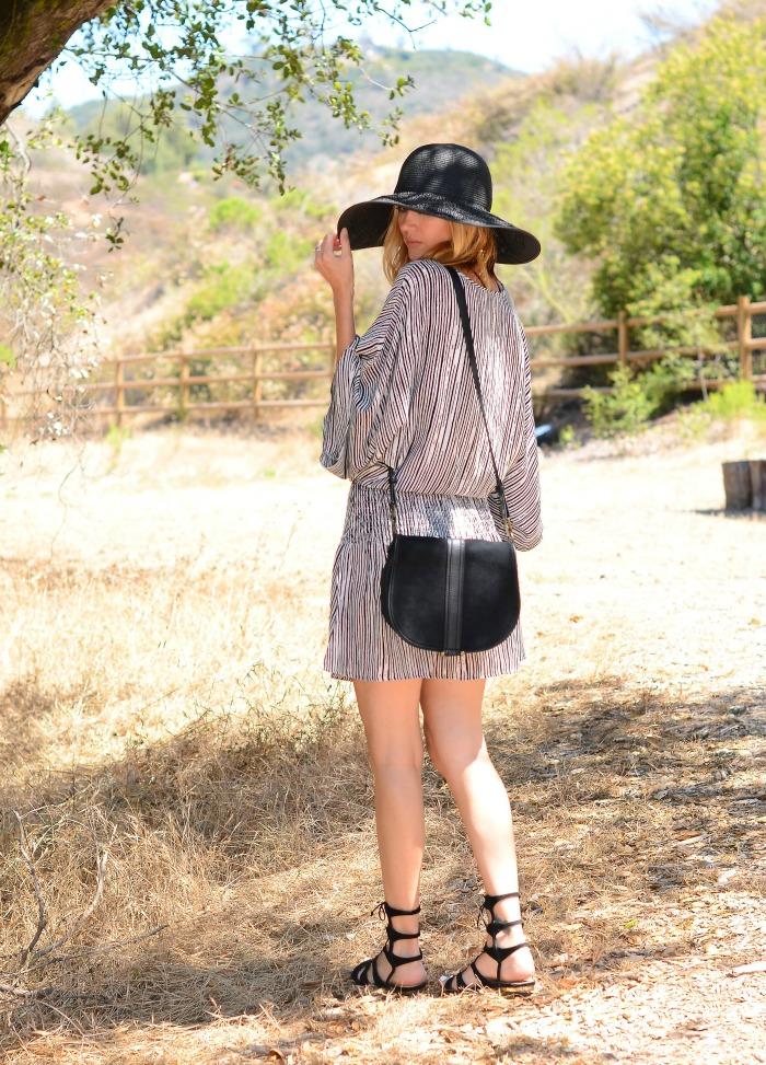 Swirl Striped Dress