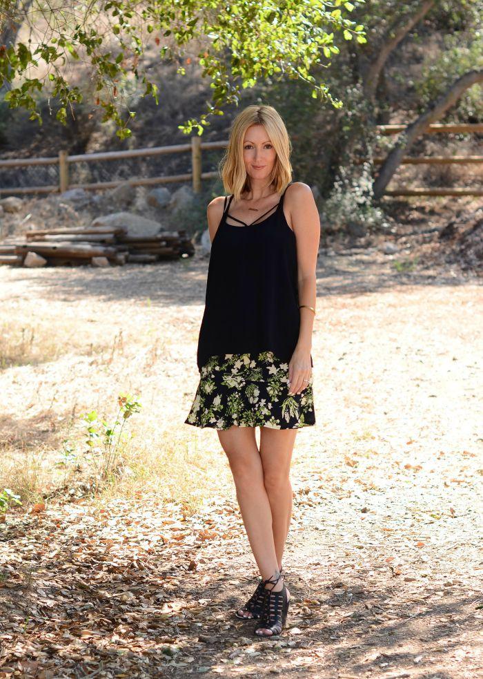 Floral Fluted Skirt