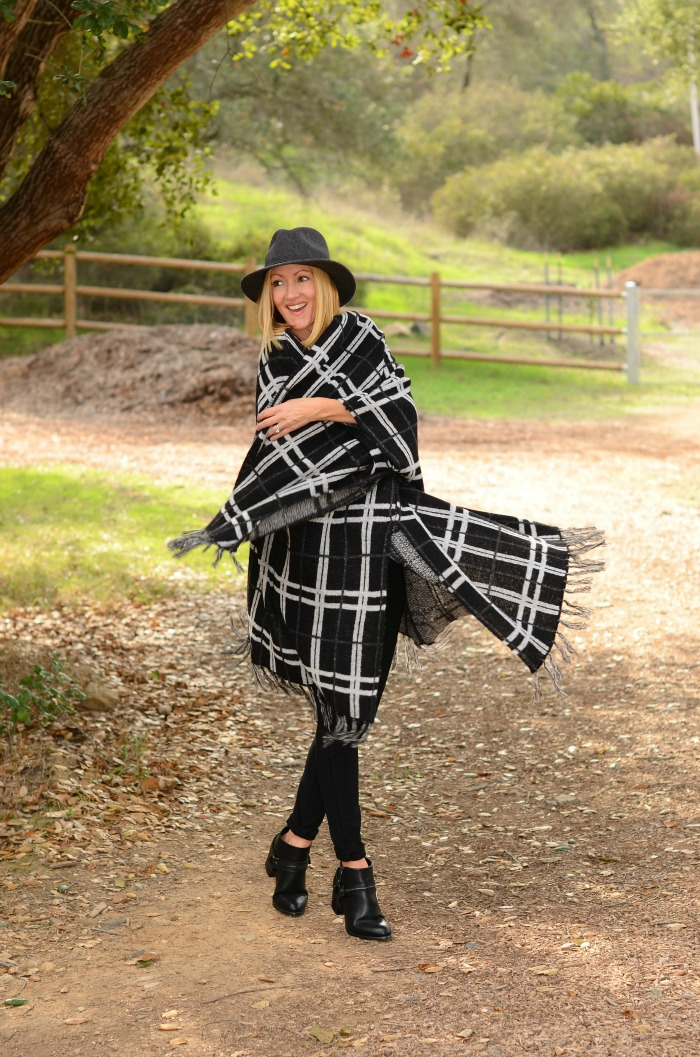 Justfab plaid poncho