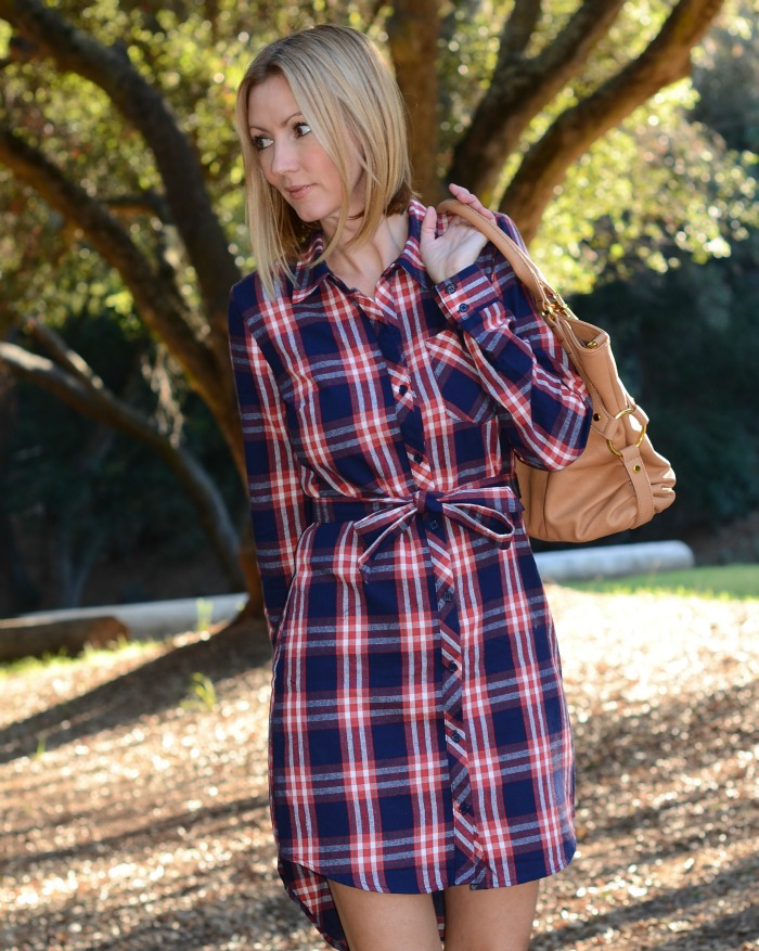 Justfab Plaid Dress