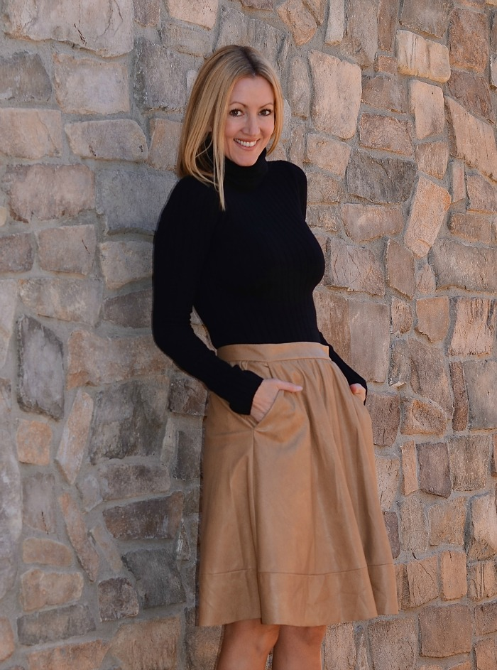 Nordstrom Rack Faux Leather Skirt