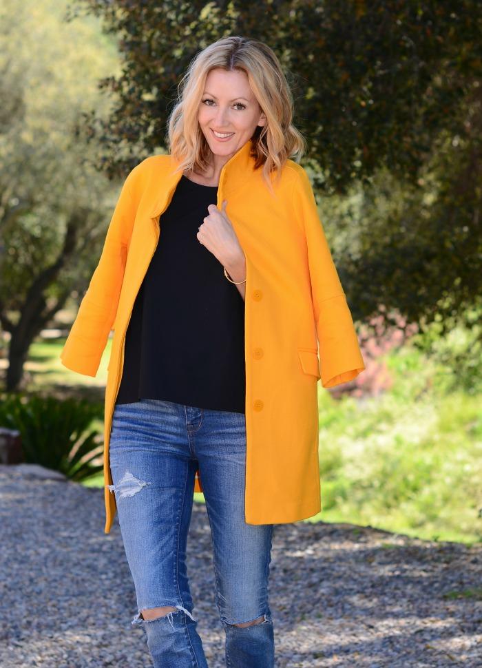 ZARA mustard coat
