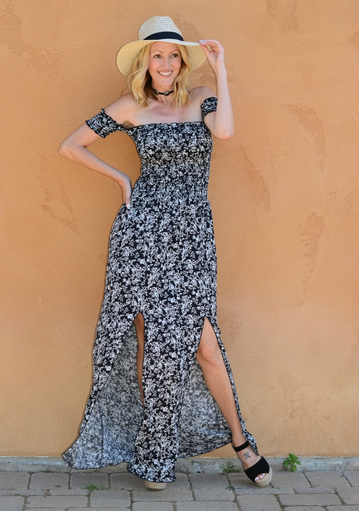 Off the Shoulder Maxi Dress Swirl Boutique