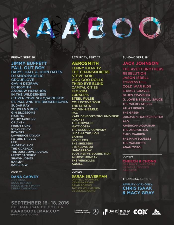 KAABOO 2016 LINEUP