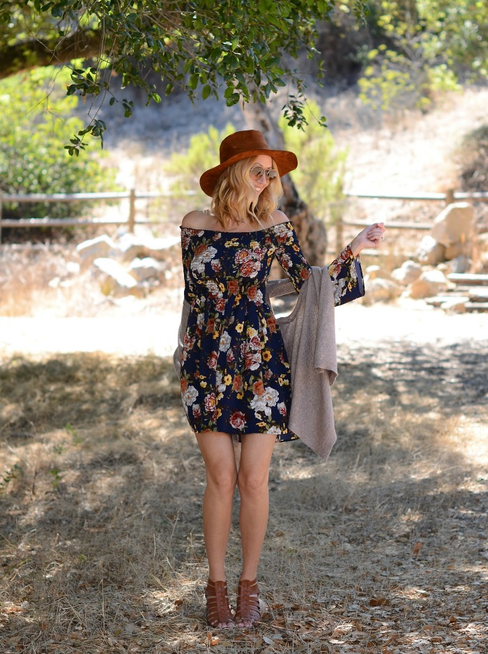 floral-off-the-shoulder-dress