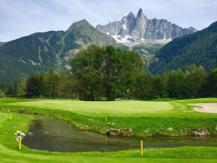 Hole 8 Chamonix Golf Course