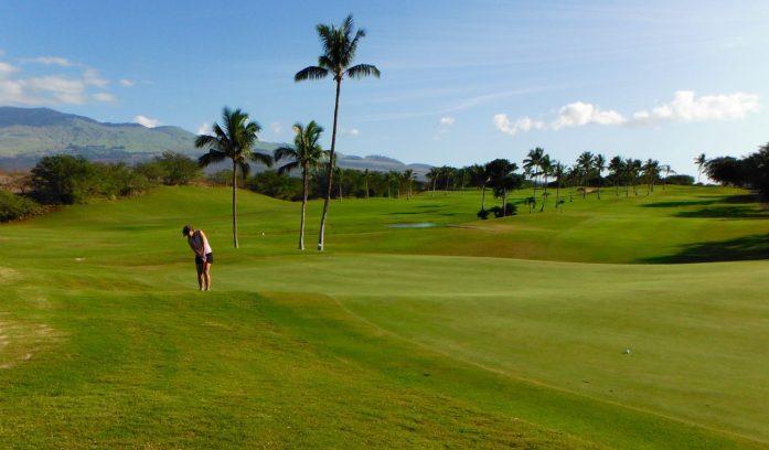 9th Hole at Maui Nui Golf Course