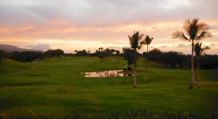 Sunset on Maui Nui Golf Course