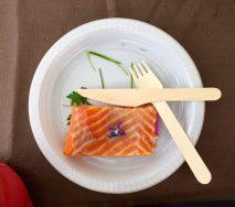 Saumon en Bellevue et mayonnaise aux herbes de notre potager, from Restaurant Le Bois Prin
