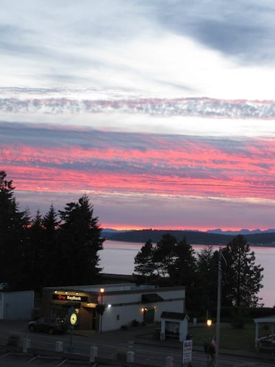 A view from Steilacoom's Topside Bar & Grill. Photo by Nancy Covert.