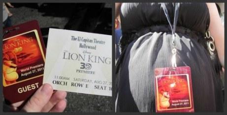 Lion King 3D Premiere