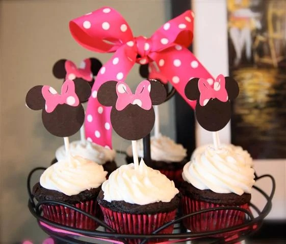 Minnie Mickey Mouse Birthday Party Decorations, Cake, Ears