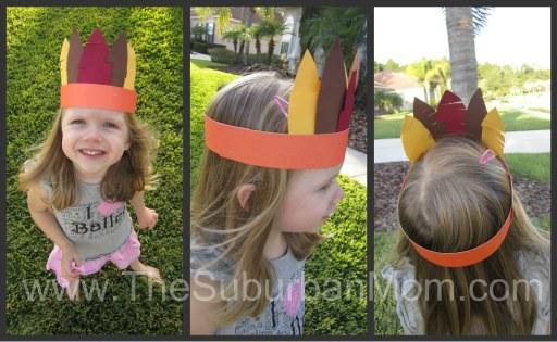 Thanksgiving Crown Kid Craft