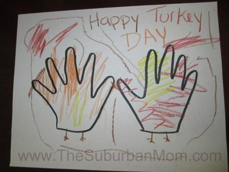 Thanksgiving Hand Print Craft