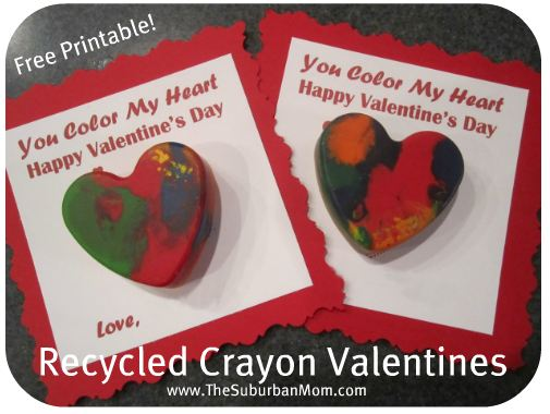 Recycled Crayon Valentines