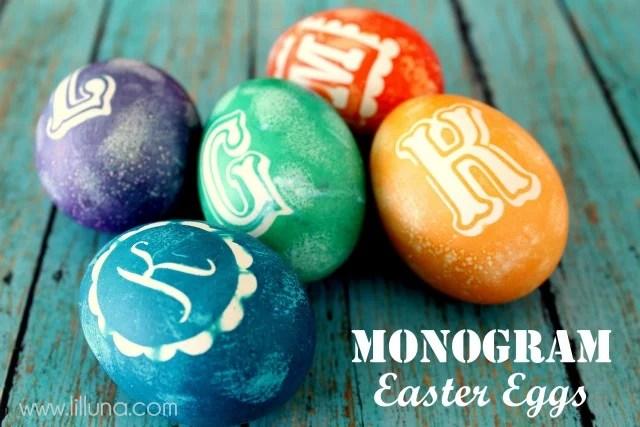 Monogramed Easter Eggs