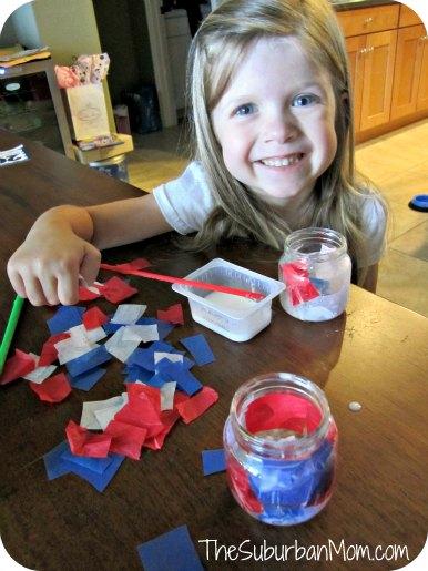 4th of July Votive Baby Food Jar Kids Craft