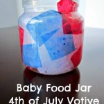 4th of July Votive Baby Food Jar Kids Craft