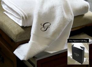 Jill's Deals & Steals Luxor Linens Monogrammed Towel