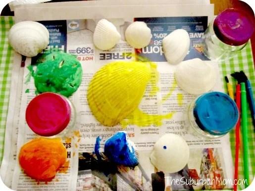 Painted Beach Shells Craft
