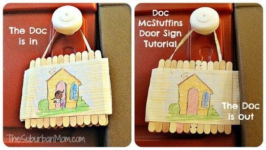 Doc McStuffins Clinic Door Sign Disney Junior