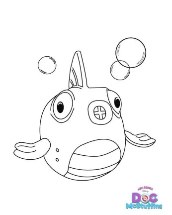 Doc McStuffins Coloring Page Fish Squeakers