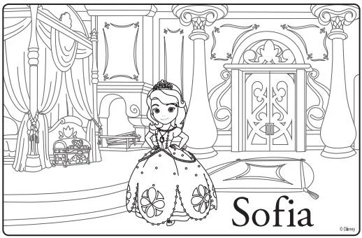 Sofia the first premiere party ideas coloring sheets for Sofia printable coloring pages