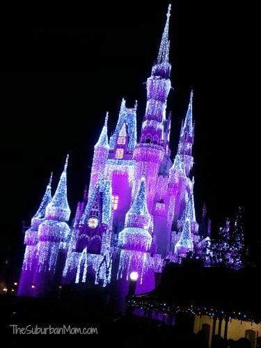 Cinderella's Castle Walt Disney World Christmas Nighttime