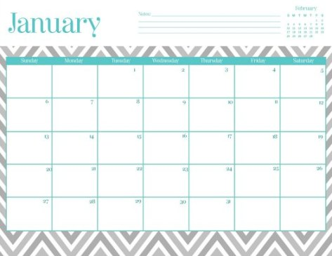 Free 2013 Printable Calendar Oh So Lovely Blog