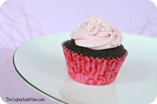 Pink Chocolate Cupcake Cool Whip Frosting