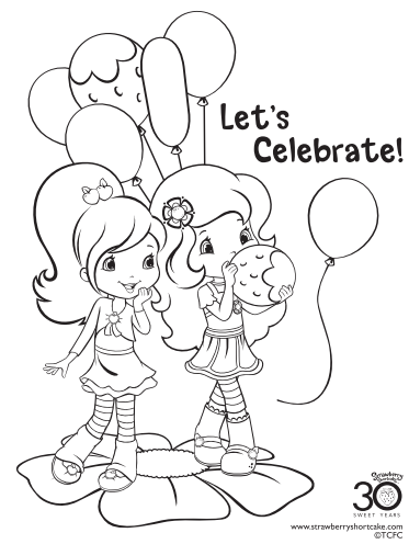 photo regarding Strawberry Shortcake Printable Coloring Pages identified as 12 Strawberry Shortcake Birthday Bash Printable Coloring