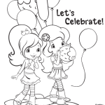 Strawberry Shortcake Coloring Page Party 2