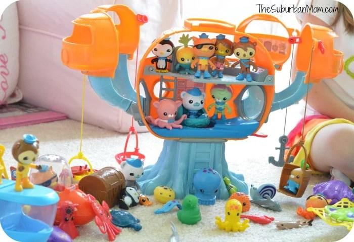 Octonauts Octopod Captain Barnacles, Kwazii, Dashi, Tweak, Shellingtong, Tunip
