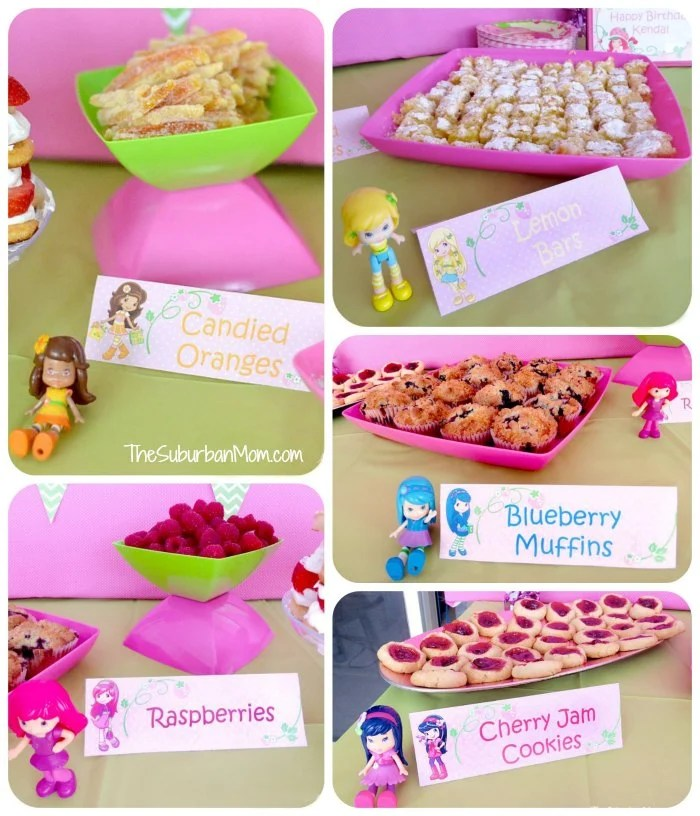 Strawberry Shortcake Food Display Signs