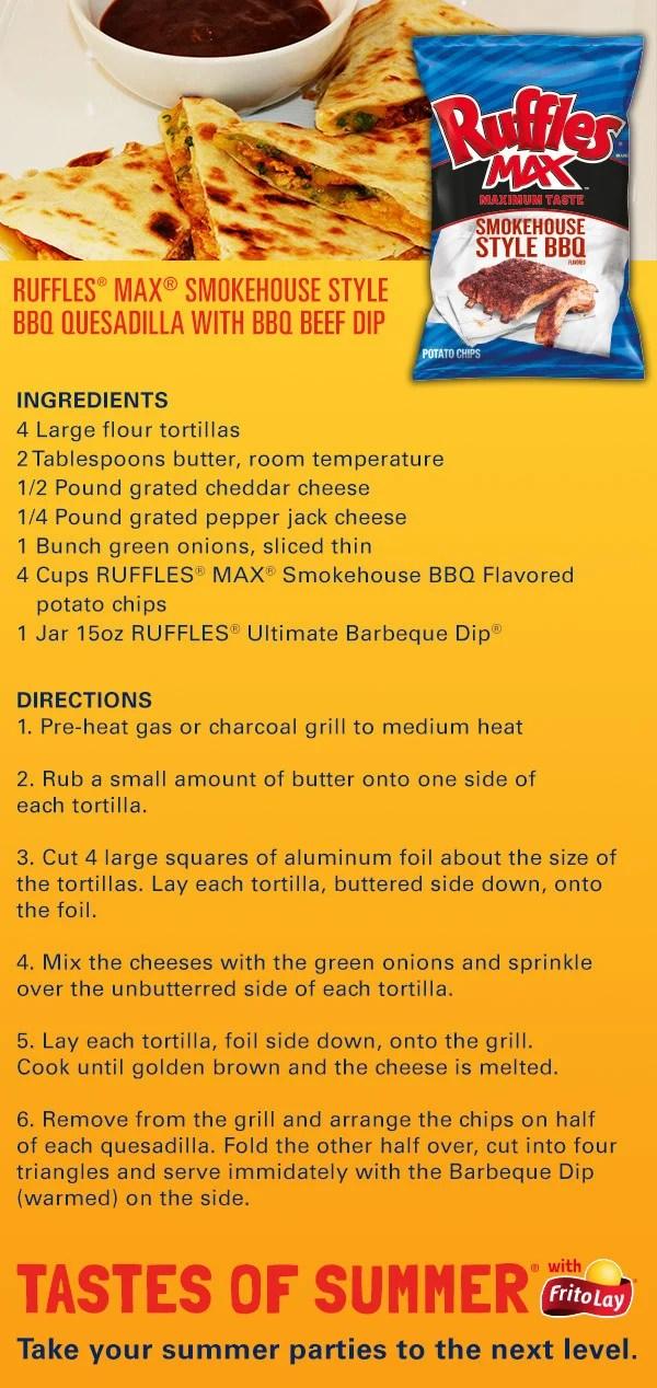 Frito-Lay Ruffles Quesadilla Recipe