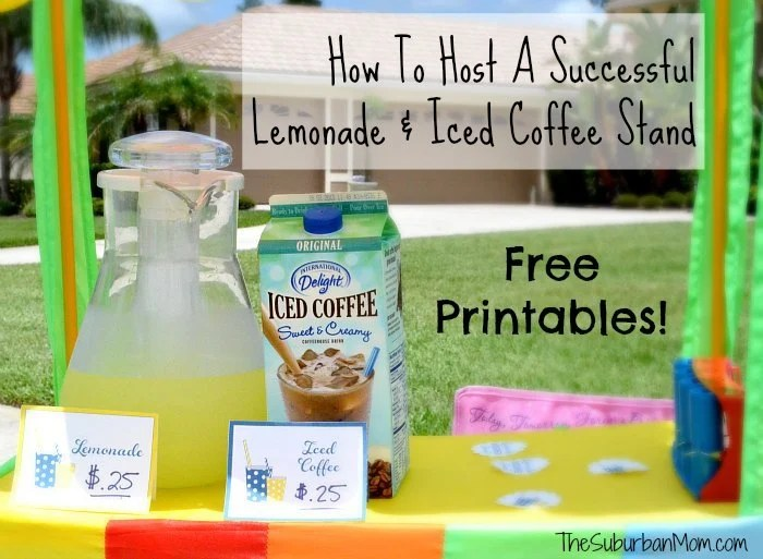 How To Host A Lemonade Iced Coffee Stand