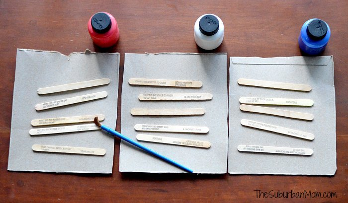 Popsicle Stick Fireworks Materials