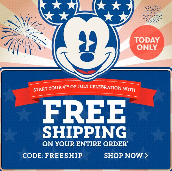 disney-store-free-shipping-july-4th