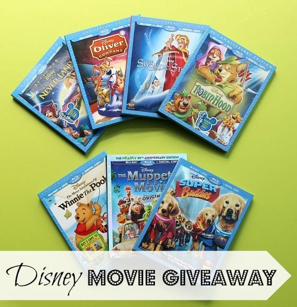 Disney 7 Movie Giveaway