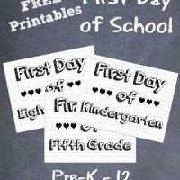 First Day Of School Sign & Photo Ideas ~ Free Printable